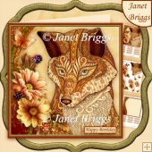 FOX & FLORALS 7.5 Decoupage & Insert Kit