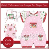 Baby's 1st Christmas Pink Romper Suit Shaped Card