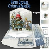 Winter Gnome Christmas Easel Topper Card Kit