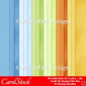 Boy Birthday Colors Card Stock Digital Papers