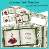 Christmas Book Tent Card
