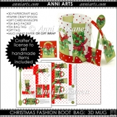 Xmas Fashion Boot and Bag 3D Mug and Packets