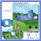 Golfing Buckle Card Kit