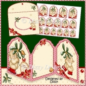 Mistletoe Bear Card plus Gift Tags