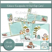 Eskimo Escapades 4 Fold Flap Card