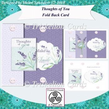 Thoughts of You No Holes Fold Back Card Kit
