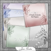 CU 6 Pearls & Jewels Backing Papers
