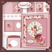 Clock and roses card set