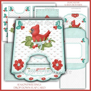 Seasontweetings Drop Down Flap Card