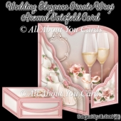 Wedding Elegance Ornate Wrap Around Gatefold Card