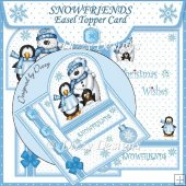 Snowfriends Easel Topper Card