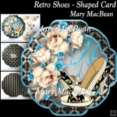 Retro Shoes - Shaped Card