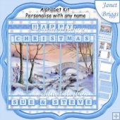 WINTER STREAM Christmas 7.5 Quick Card Kit Create Any Name