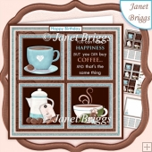 COFFEE LOVER SQUARES 7.5 Quick Layer Card & Insert Kit