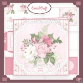 Winter rose card set