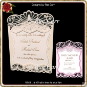 1015 Invitation, Wedding, Shower, Announcement Card