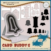 Bell Shaped Easel Card Template Set – CU/PU