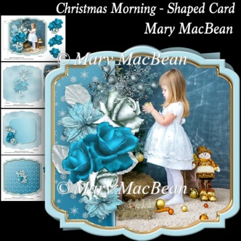 Christmas Morning - Shaped Card