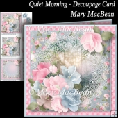 Quiet Morning - Decoupage Card
