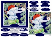 Christmas Elephant 6 X 6 Card Topper & Assorted Greetings