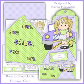 Born To Shop Envelope Card