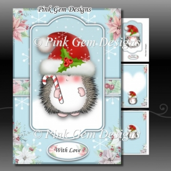 Hedgy With Candy Cane A5 Mini Kit