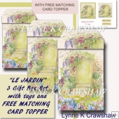 LE JARDIN - 3 Gift Box Set with FREE MATCHING CARD TOPPER