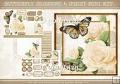 BUTTERFLY BLOSSOMS 4 SHEET MINI KIT Cream