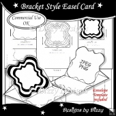 Bracket Style Easel Card Template