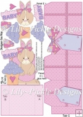 New Baby Girl Bunny Box Card