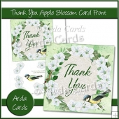 Thank You Apple Blossom Card Front