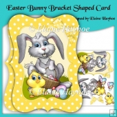 Easter Bunny Bracket Shaped Card