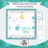 Follow the Stars Bunny Rabbit 7.5 Inch Square Card Front Kit
