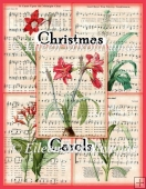 Christmas Carols Background Papers Set of 5