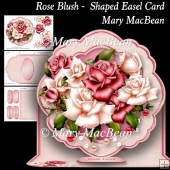 Rose Blush - Shaped Easel Card