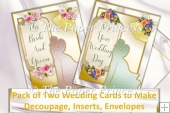 Pack of 2 Wedding cards with inserts and envelopes