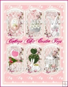 Cottage Chic IN THE PINK Easter Spring Tag Set