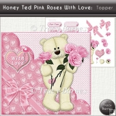 Honey Ted Pink Roses With Love Topper
