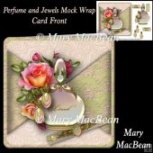 Perfume and Jewels Mock Wrap Card Front