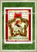 Vintage Christmas Joyful Child Backing Background Paper
