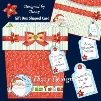 Festive Gift Box Shaped Card