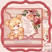 Bear with Roses & Verse 8x8 Decoupage Kit