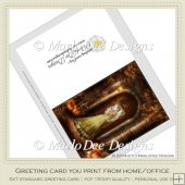Pretty Witch Fantasy Halloween Printable Greeting Card 11