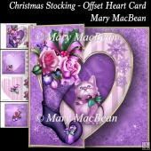 Christmas Stocking - Offset Heart Card