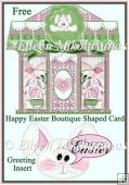 Free Happy Easter Boutique Shaped Card
