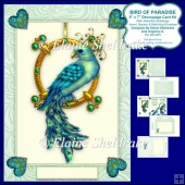 "Bird Of Paradise - 5"" x 7"" Decoupage Card Kit & Envelope"