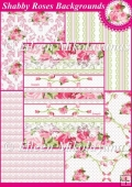 Shabby Roses Background Backing Papers