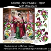 Oriental Dancer Scenic Topper with Decoupage