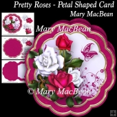 Pretty Roses - Petal Shaped Card