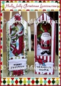 Holly Jolly Christmas Luminary Set with Directions